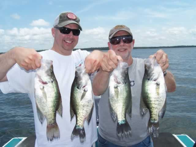 Lake Fork crappie catch ... summer of 2016