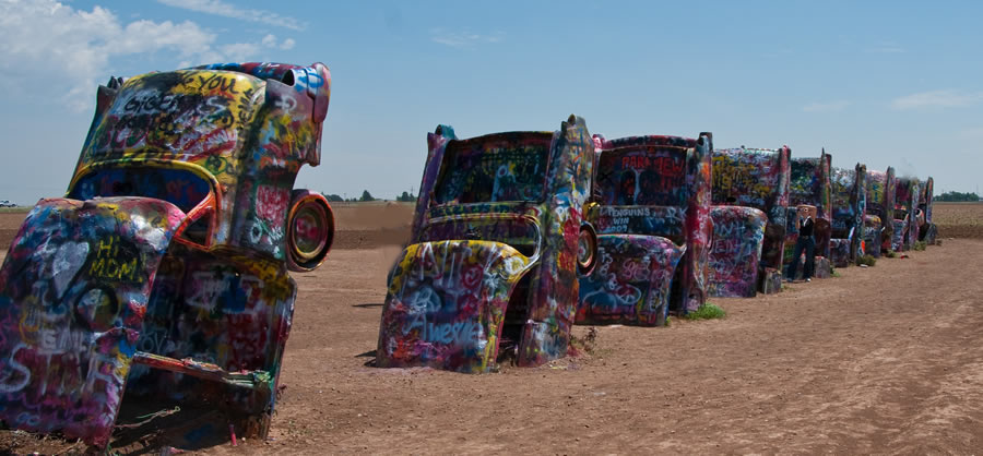 The Cadillac Ranch, on Interstate 40 just west of Amarillo