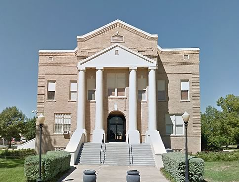 San Jacinto County Court House in the City of Coldspring in Deep East Texas
