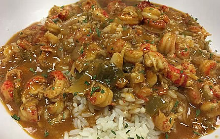 Crawfish Etouffee ... served on a bed of lovely white rice