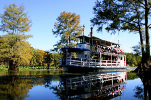 Graceful Ghost Steamboat at Caddo Lake near Jefferson, Texas