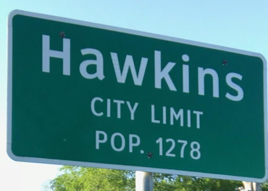 Greetings from Hawkins Texas ... Population 1,278