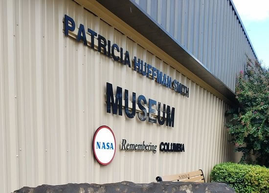 "The Patricia Huffman Smith NASA ""Remembering Columbia"" Museum in Hemphill, Texas"