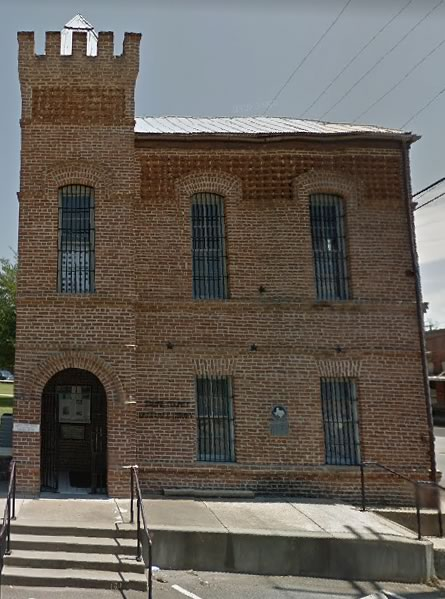 The old jail in downtown Hemphill built in 1904 and used by Sabine County until 1982.