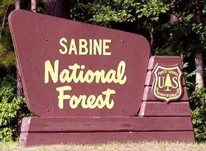 Sabine National Forest in Deep East Texas