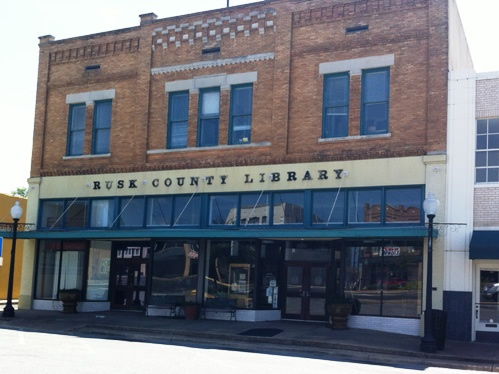 Rusk County Texas Library, downtown Henderson Texas