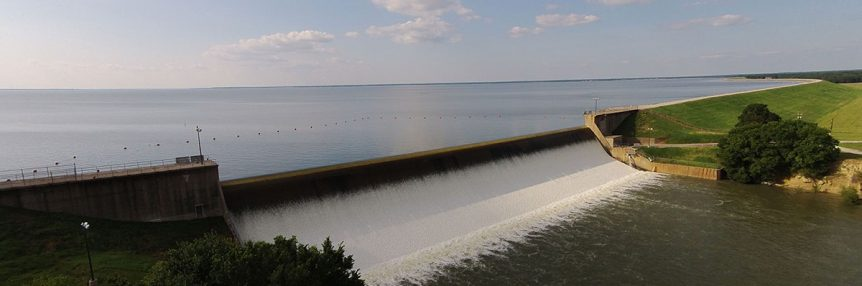 Lake Tawakoni Dam in Texas