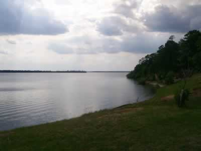 Scene on Wright Patman Lake in East Texas