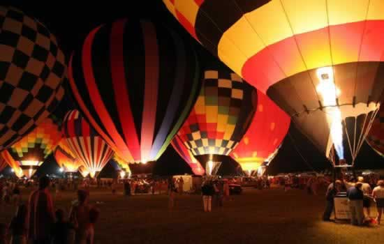 Balloon glow in Longview Texas