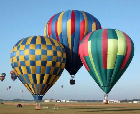 Hot air balloon races in Longview Texas