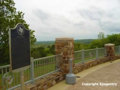 Love's Lookout, elevation 713 feet above sea level, near Jacksonville, Texas