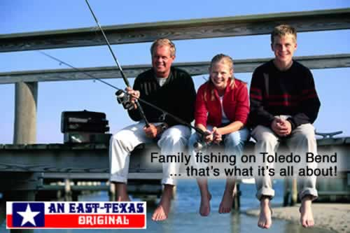 Family fishing on Toledo Bend ... that's what it's all about!