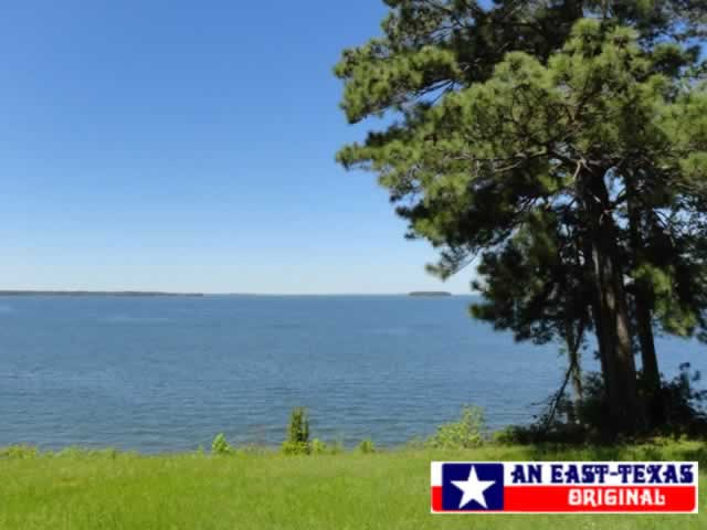 Toledo Bend Reservoir on a perfect clear, blue-sky day