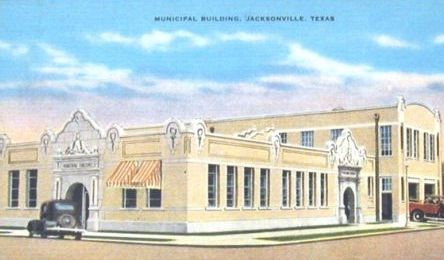 Historic postcard of the Historic postcard of East Commerce Street, Jacksonville, Texas