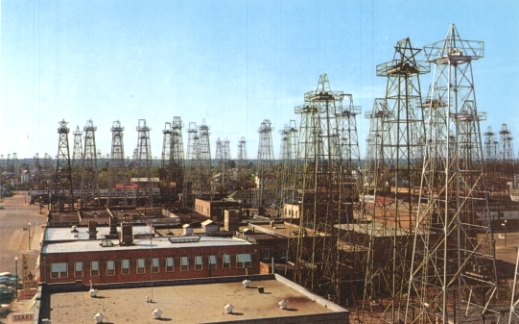 Oil Derricks in Downtown Kilgore, Texas