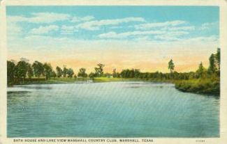 Bath House and Lake View, Marshall Country Club, Marshall, Texas
