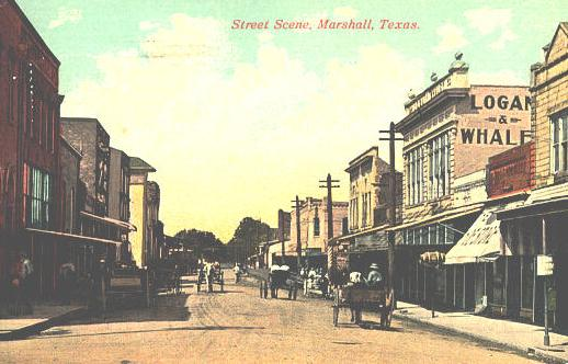 Street Scene, Marshall, Texas, early 20th Century