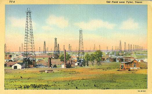 Oil field near Tyler, Texas
