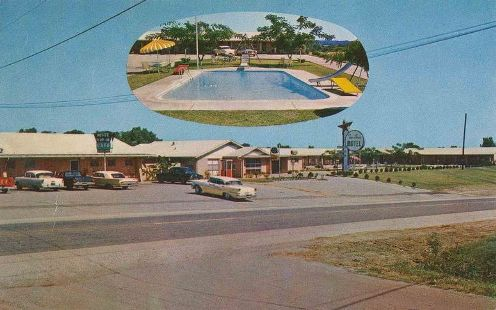 Historic postcard of Tex Ann Motel Palestine, Texas