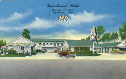 Dun Salini' Motel, Highway 67 West, Texarkana, Texas